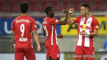 Inédito festejo por el coronavirus: Salzburgo ganó la Copa Austria y celebró con distanciamiento social - infobae