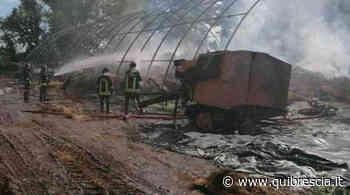 Castenedolo, capannone agricolo distrutto da un fulmine - QuiBrescia.it