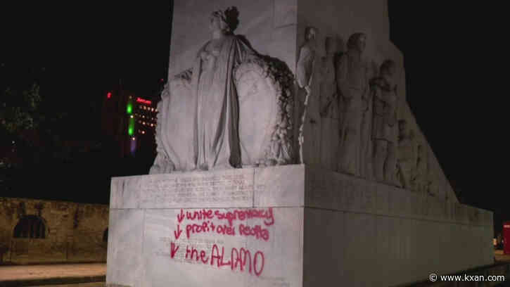 One person in custody after Alamo Cenotaph vandalized, San Antonio police say