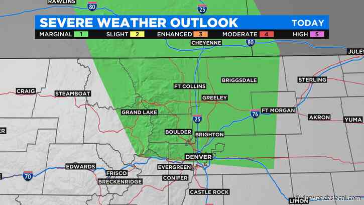 Colorado Weather: Scattered Afternoon Storms, Few Could Turn Severe Near Denver