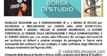 Una borsa di studio di 1500 euro sulla diffusione del contagio Covid-19 nel territorio di Velletri - Velletri
