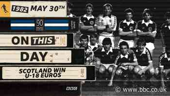 Scotland win the Under-18 European Championship in 1982 - BBC News