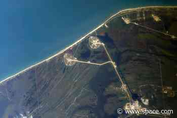 Cosmonaut spots SpaceX's Demo-2 launch pad from space station (photo)