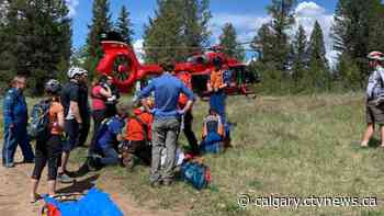 Girl plummets roughly 45 metres down embankment while biking near Invermere, B.C. - CTV News