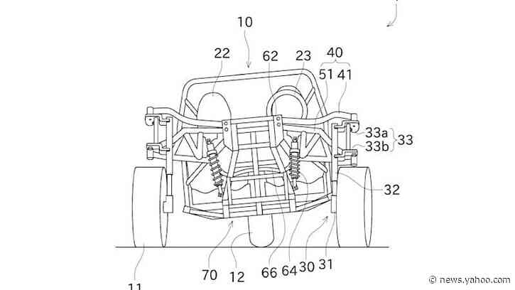 Kawasaki is developing a three-wheel Slingshot competitor that leans