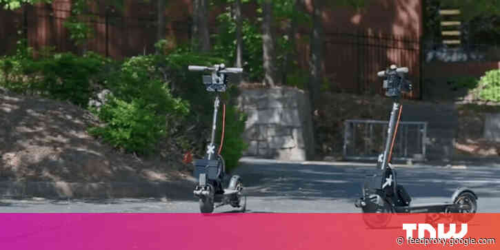 These 'self-driving' shared scooters will automatically return to base after each use