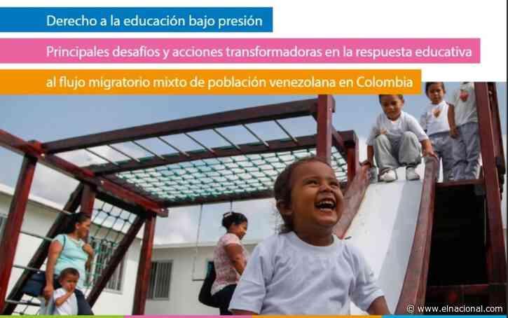 Unesco: 198.000 niños y jóvenes venezolanos están inscritos en el sistema educativo de Colombia