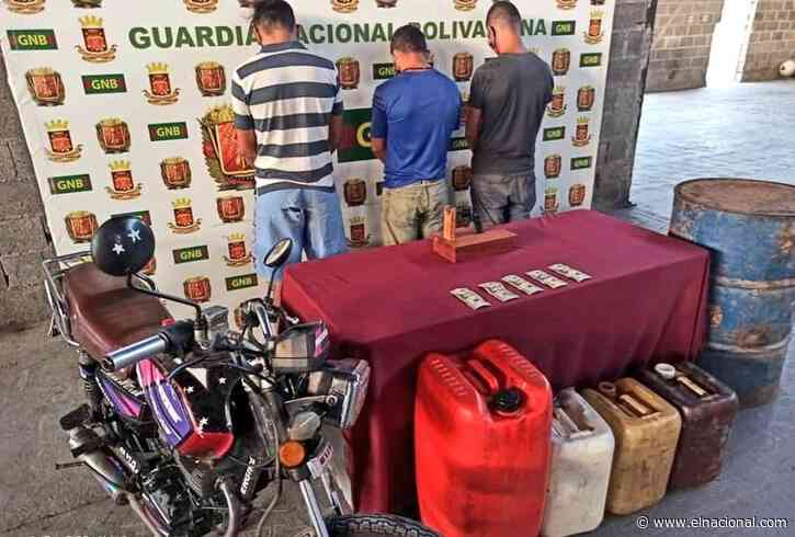 Detienen a 3 hombres por la venta clandestina de combustible en Lara