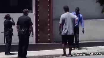 Video shows Denzel Washington help LAPD with distressed man - CNN