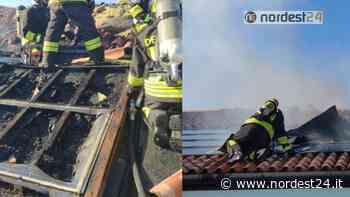 Incendio a Martellago: brucia l'impianto fotovoltaico di una villetta - Nordest24.it