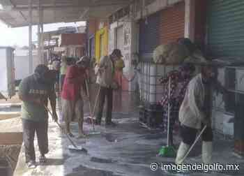 Ponen manos a la obra y limpian cada rincón de la Central de Abastos en Minatitlán - Imagen del Golfo