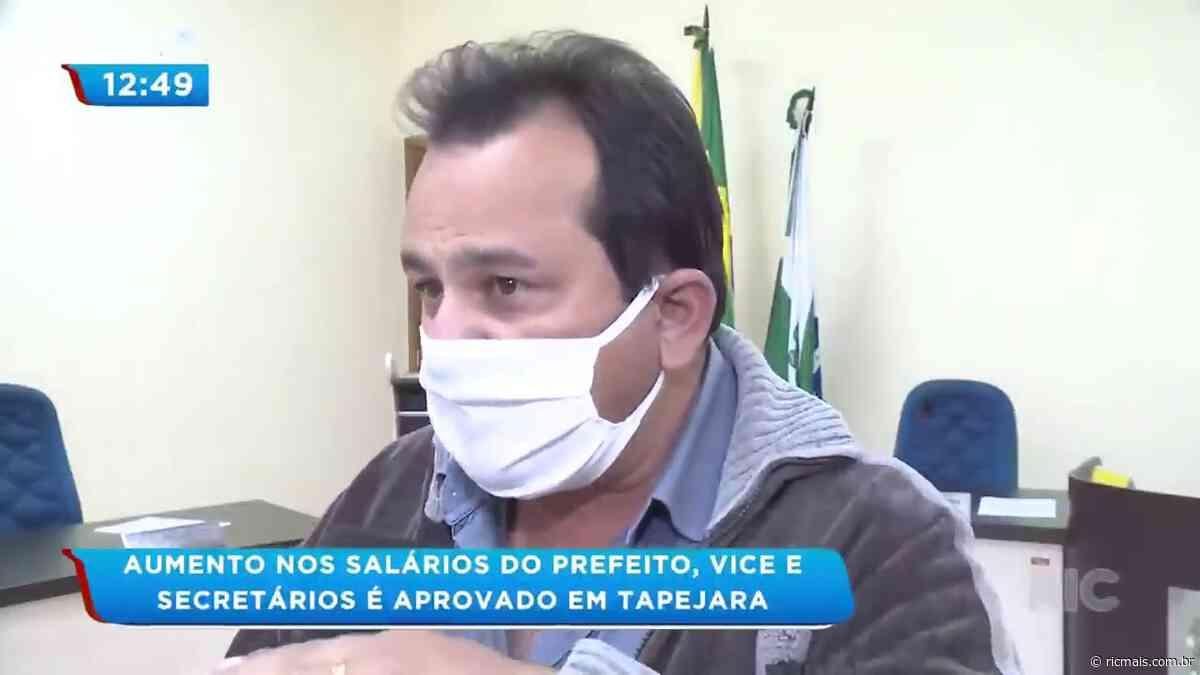 Aumento nos salários do prefeito, vice e secretários é aprovado em Tapejara - RIC Mais