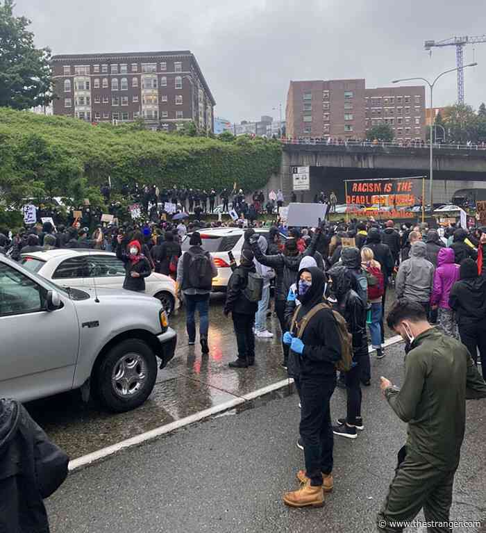 Seattle Protests for George Floyd Shut Down I-5, Durkan Announces Curfew