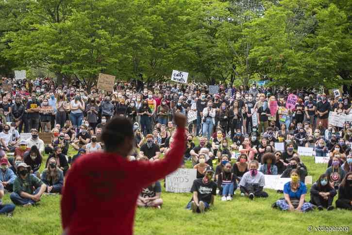 Hundreds protest against death of George Floyd in Burlington and Montpelier