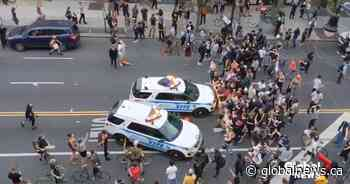 George Floyd protests: Video shows NYPD vehicles driving into crowd