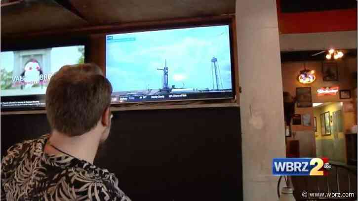 Baton Rouge residents watch historic SpaceX launch