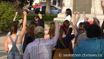 Hundreds rally in Saskatoon against anti-black racism