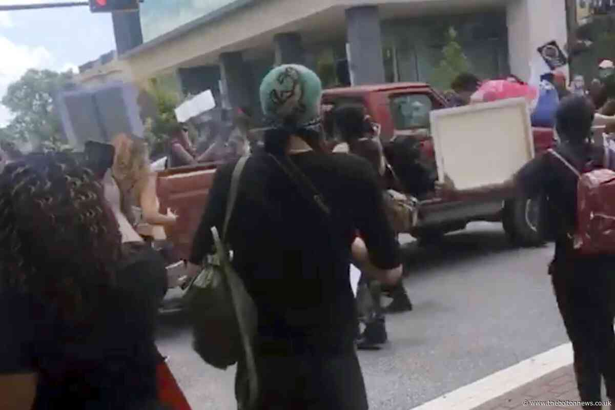 Truck drives through George Floyd protesters in Florida - The Bolton News