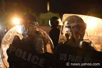 Night of rage on Pennsylvania Avenue as protesters clash with Secret Service in front of the White House