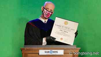 John Waters gives an in-quarantine, green-screened commencement speech - Boing Boing