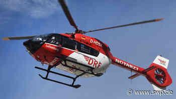Rettungshubschrauber über Rangendingen: 64-jähriger Radfahrer stürzt die Böschung hinab - SWP