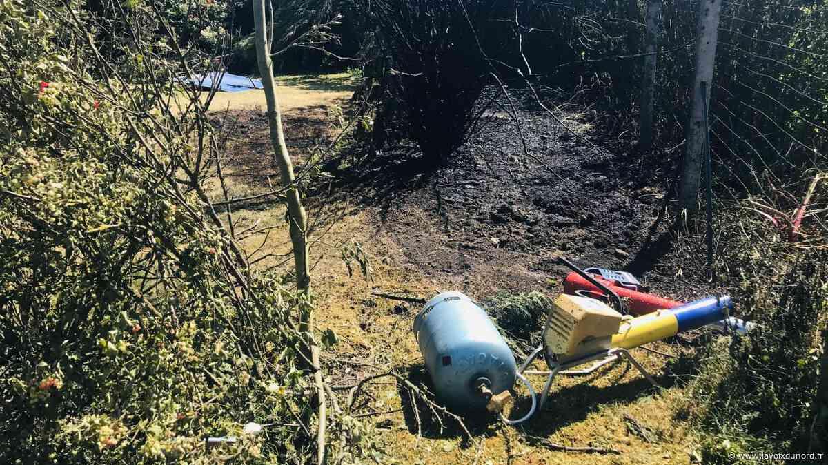 Trois pompiers de Seclin blessés après l'explosion de la bouteille de gaz d'un effaroucheur à corbeaux - La Voix du Nord