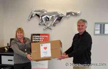 Lambton Ford donates face shields to Bluewater Health - BlackburnNews.com