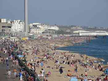 Revellers helped off Brighton beach