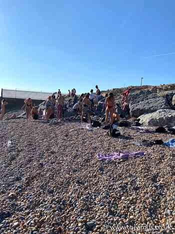 Youngsters asked to leave private beach in Shoreham Port