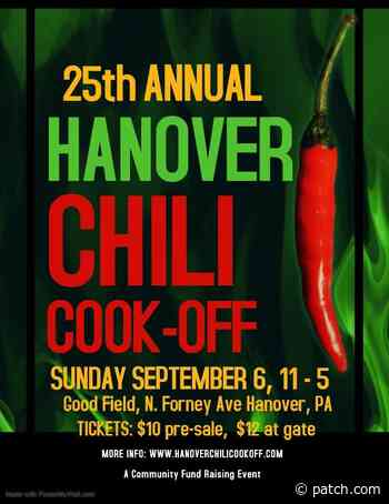 Sep 6 | Hanover Chili Cook Off | Westminster, MD Patch - Patch.com
