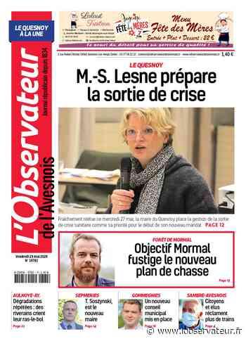 L'Observateur de l'Avesnois (édition Le Quesnoy) du vendredi 29 mai - L'Observateur