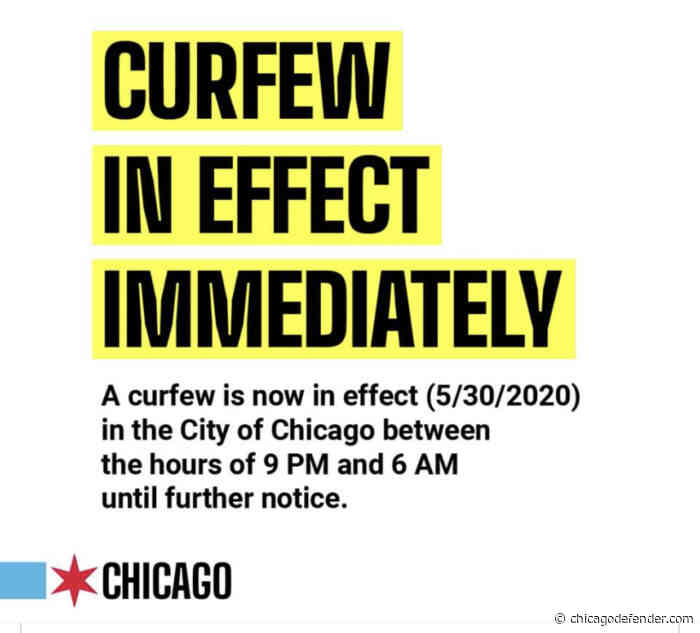 Citywide Curfew as Protest continue around Chicago