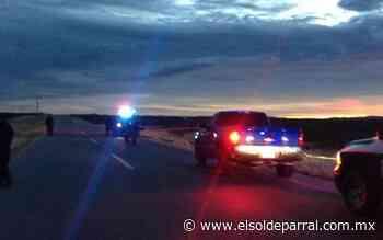 Hombres armados colocan retén en carretera Jiménez- Parral - El Sol de Parral