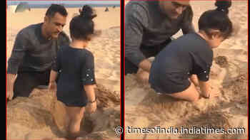 Watch: MS Dhoni spends quality time with daughter Ziva