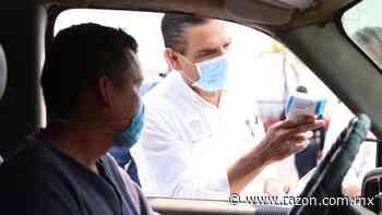 Supervisa Aureoles filtros sanitarios y Hospital Militar en Apatzingan - La Razon