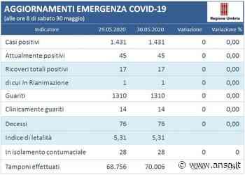 Quarto giorno con zero nuovi contagi in Umbria - Umbria - Agenzia ANSA