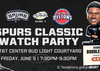 SPURS TO HOST OUTDOOR WATCH PARTY IN THE BUD LIGHT COURTYARD AT THE AT&T CENTER