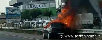 Auto in fiamme a Lissone, Statale 36 temporaneamente chiusa al traffico - Il Cittadino di Monza e Brianza