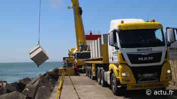 Tarnos. Renforcement d'urgence de la digue suite à la perte de 120 blocs durant l'hiver - actu.fr