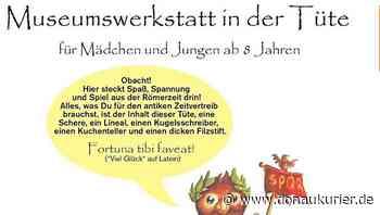 Manching: Kinder-Werkstattprogramm für zu Hause - Neues Angebot des Kelten- und Römermuseums in Manching - donaukurier.de
