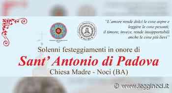 Sant'Antonio di Padova: solenni festeggiamenti in Chiesa Madre - LeggiNoci.it