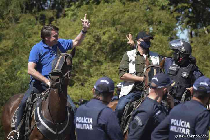 Police disperse anti-Bolsonaro protesters in Brazil