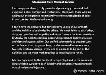 Statement from Michael Jordan - 5/31/20