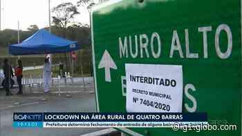 Coronavírus: Prefeitura de Quatro Barras decreta lockdown em sete localidades da zona rural - G1