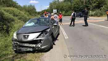 Libercourt: collision entre deux véhicules, la RD 306 coupée pendant un temps - La Voix du Nord
