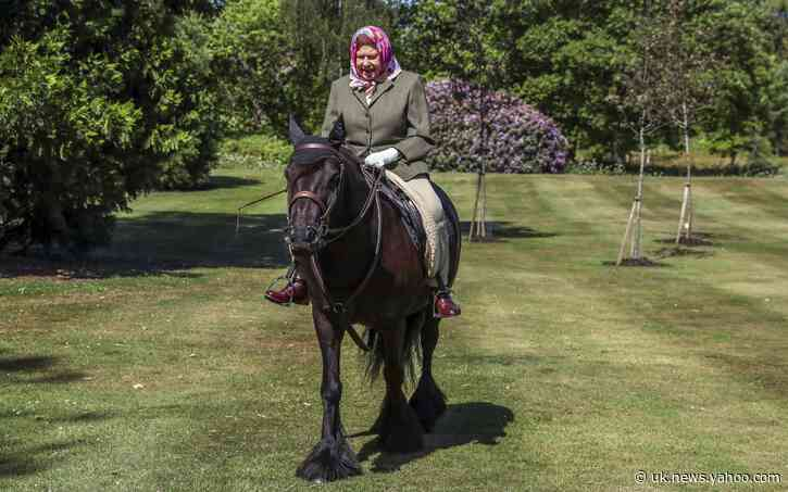 Queen relaxes with a special horse ride through Windsor Home Park