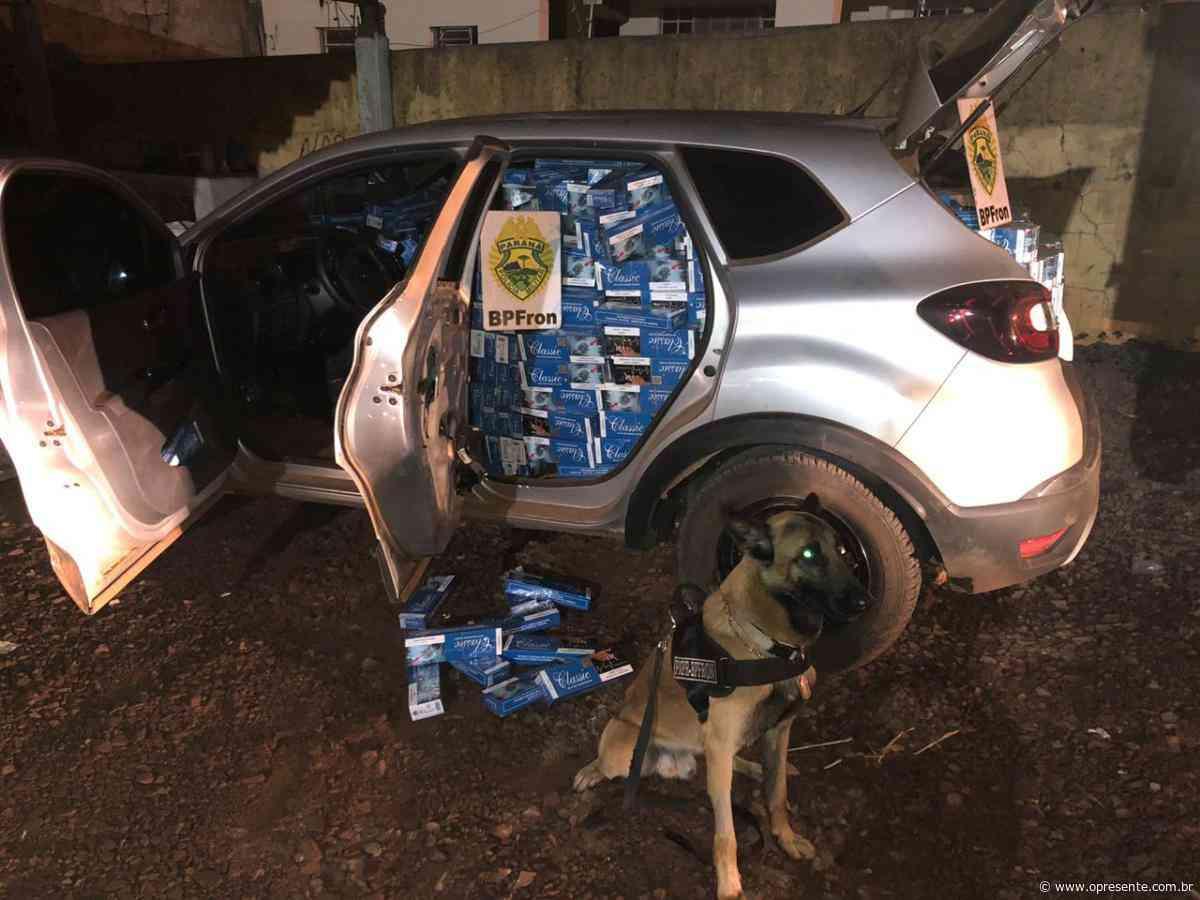 K9 do BPFron apreende carro carregado com cigarros contrabandeados - O Presente