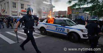 Symbol of N.Y.C. Unrest: A Burning Police Car