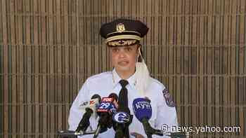 Philadelphia Police Commissioner Danielle Outlaw speaks to the violence in the city following Saturday's protest