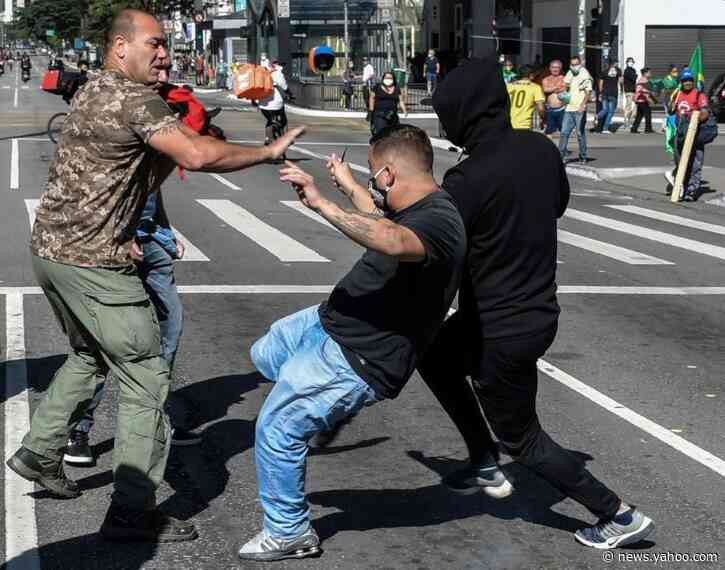 Brazil's Bolsonaro rallies supporters as US sends unproven drug